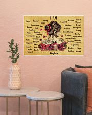 BREAST CANCER - I AM  - CUSTOM NAME 24x16 Poster poster-landscape-24x16-lifestyle-22