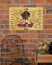 BREAST CANCER - I AM  - CUSTOM NAME 24x16 Poster poster-landscape-24x16-lifestyle-24
