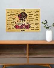 BREAST CANCER - I AM  - CUSTOM NAME 24x16 Poster poster-landscape-24x16-lifestyle-25
