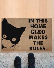 """CAT - DOORMAT - CUSTOM NAME Doormat 34"""" x 23"""" aos-doormat-34-x-23-lifestyle-front-10"""