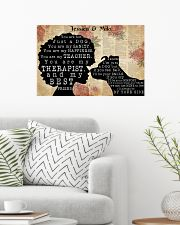 DOG AND GIRL - CUSTOM NAME 24x16 Poster poster-landscape-24x16-lifestyle-01