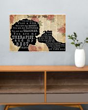 DOG AND GIRL - CUSTOM NAME 24x16 Poster poster-landscape-24x16-lifestyle-25