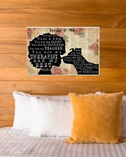 DOG AND GIRL - CUSTOM NAME 24x16 Poster poster-landscape-24x16-lifestyle-27