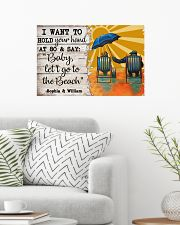 FAMILY - I WANT TI HOLD YOUR HAND - CUSTOM NAME 24x16 Poster poster-landscape-24x16-lifestyle-01