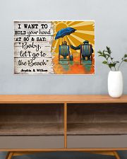 FAMILY - I WANT TI HOLD YOUR HAND - CUSTOM NAME 24x16 Poster poster-landscape-24x16-lifestyle-25