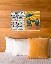 FAMILY - I WANT TI HOLD YOUR HAND - CUSTOM NAME 24x16 Poster poster-landscape-24x16-lifestyle-27