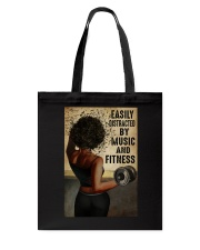 EASILY DISTRACTED BY MUSIC AND FITNESS Tote Bag tile
