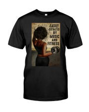 EASILY DISTRACTED BY MUSIC AND FITNESS Classic T-Shirt tile