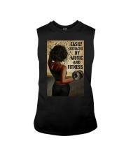 EASILY DISTRACTED BY MUSIC AND FITNESS Sleeveless Tee tile
