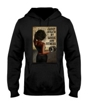 EASILY DISTRACTED BY MUSIC AND FITNESS Hooded Sweatshirt tile