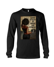 EASILY DISTRACTED BY MUSIC AND FITNESS Long Sleeve Tee tile