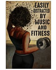 EASILY DISTRACTED BY MUSIC AND FITNESS 11x17 Poster front