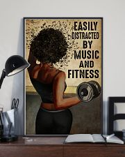 EASILY DISTRACTED BY MUSIC AND FITNESS 11x17 Poster lifestyle-poster-2