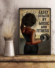 EASILY DISTRACTED BY MUSIC AND FITNESS 11x17 Poster lifestyle-poster-3