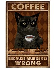 COFFEE BECAUSE MURDER IS WRONG 11x17 Poster front