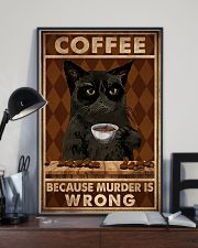 COFFEE BECAUSE MURDER IS WRONG 11x17 Poster lifestyle-poster-2