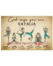 YOGA - GOD SAY YOU ARE - CUSTOM NAME 17x11 Poster front