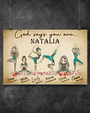 YOGA - GOD SAY YOU ARE - CUSTOM NAME 17x11 Poster poster-landscape-17x11-lifestyle-12