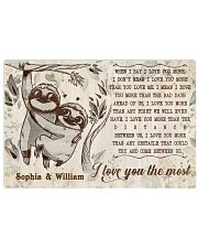 SLOTH - I LOVE YOU THE MOST  - CUSTOM NAME 24x16 Poster front