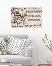 SLOTH - I LOVE YOU THE MOST  - CUSTOM NAME 24x16 Poster poster-landscape-24x16-lifestyle-01
