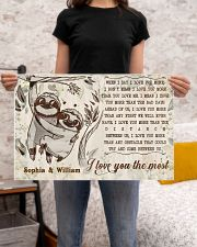 SLOTH - I LOVE YOU THE MOST  - CUSTOM NAME 24x16 Poster poster-landscape-24x16-lifestyle-20