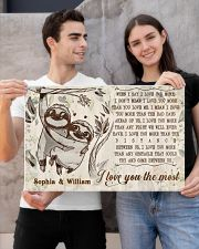 SLOTH - I LOVE YOU THE MOST  - CUSTOM NAME 24x16 Poster poster-landscape-24x16-lifestyle-21