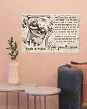SLOTH - I LOVE YOU THE MOST  - CUSTOM NAME 24x16 Poster poster-landscape-24x16-lifestyle-22