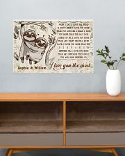 SLOTH - I LOVE YOU THE MOST  - CUSTOM NAME 24x16 Poster poster-landscape-24x16-lifestyle-25