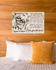 SLOTH - I LOVE YOU THE MOST  - CUSTOM NAME 24x16 Poster poster-landscape-24x16-lifestyle-27