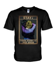 STAY YOUR STORY IS NOT OVER V-Neck T-Shirt tile