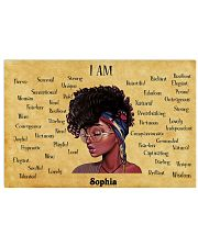 AFRO GIRL - I AM  - CUSTOM NAME 24x16 Poster front