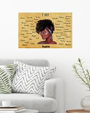 AFRO GIRL - I AM  - CUSTOM NAME 24x16 Poster poster-landscape-24x16-lifestyle-01