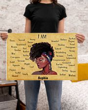 AFRO GIRL - I AM  - CUSTOM NAME 24x16 Poster poster-landscape-24x16-lifestyle-20