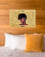 AFRO GIRL - I AM  - CUSTOM NAME 24x16 Poster poster-landscape-24x16-lifestyle-27