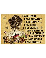 HIPPIE GIRL - I AM  - CUSTOM NAME 24x16 Poster front