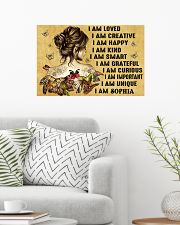 HIPPIE GIRL - I AM  - CUSTOM NAME 24x16 Poster poster-landscape-24x16-lifestyle-01