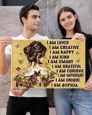 HIPPIE GIRL - I AM  - CUSTOM NAME 24x16 Poster poster-landscape-24x16-lifestyle-21