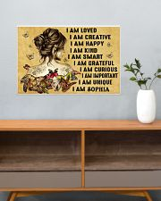 HIPPIE GIRL - I AM  - CUSTOM NAME 24x16 Poster poster-landscape-24x16-lifestyle-25