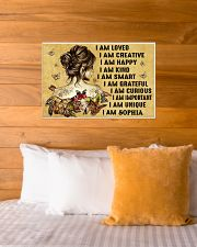 HIPPIE GIRL - I AM  - CUSTOM NAME 24x16 Poster poster-landscape-24x16-lifestyle-27