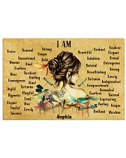 HIPPIE - I AM  - CUSTOM NAME 24x16 Poster front