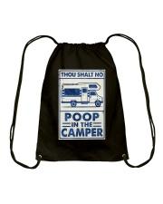 THOU SHALT NOT POO IN THE CAMPER Drawstring Bag tile