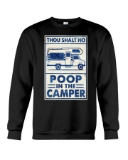 THOU SHALT NOT POO IN THE CAMPER Crewneck Sweatshirt tile