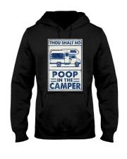 THOU SHALT NOT POO IN THE CAMPER Hooded Sweatshirt tile