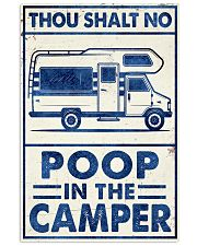 THOU SHALT NOT POO IN THE CAMPER 11x17 Poster front