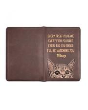 CAT - EVERY TREAT YOU FAKE - CUSTOM NAME Medium - Leather Notebook full
