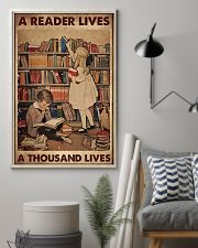 A READER LIVES A THOUSAND LIVES 11x17 Poster lifestyle-poster-1