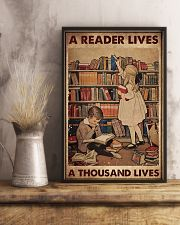 A READER LIVES A THOUSAND LIVES 11x17 Poster lifestyle-poster-3