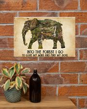 AND INTO THE FOREST I GO TO LOSE MY MIND  17x11 Poster poster-landscape-17x11-lifestyle-23