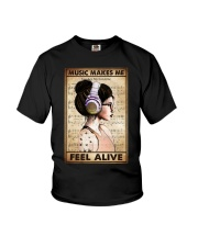 MUSIC MAKES ME FEEL ALIVE Youth T-Shirt tile