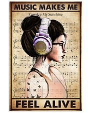 MUSIC MAKES ME FEEL ALIVE 11x17 Poster front
